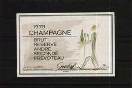 Etiquette De Champagne   Brut  1979 André Secondé Prevoteau  (Grashoff) - Champagne