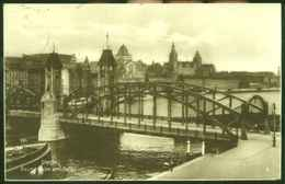 """STETTIN = Szczecin 1934 """" Baumbrücke Und Hafen """" Frank.Bedarf Mit Hindenburg > Trier Mosel - Westpreussen"""