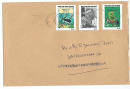 Brief Gefrankeerd Met Kuifje Zegels - Covers & Documents