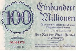 GERMANY 100 Millionen MARK 1923 - XF - Zwischenscheine - Schatzanweisungen