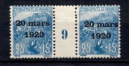 Monaco Maury N° 35 Millésime 1919 Neuf ** MNH. TB. A Saisir! - Monaco