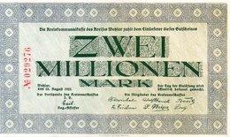 GERMANY 2 MILLIONEN MARK 1923 - UNC - Zwischenscheine - Schatzanweisungen
