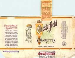 120320A - CIGARETTE EMBALLAGE - CHESTERFIELD CIGARETTES Liggett & Myers Tobacco Co Jaune - Cigarrillos - Accesorios