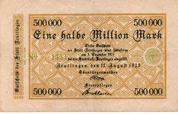 GERMANY 500000 MILION MARK 1923 -CIRCOLATED - Zwischenscheine - Schatzanweisungen