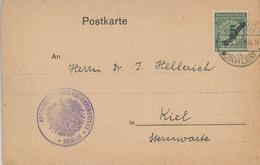 Astronomisches Recheninstitut Berlin August Kopff [Komet] An Sternwarte Kiel Hellerich - Dienst [Veränderliche Sterne] - Lettres & Documents