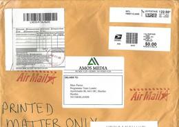 """USA 2017 Sidney Ohio Meter Data-Pac """"America2"""" Prefix 08 Toshiba EMA Eagle Flag Cover - Cartas"""
