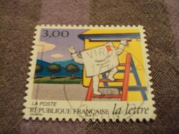"""1990-99  Oblitéré  N° 3061   """" La Lettre,pli Grimpant  """"  Net 0.50 -""""  Viroflay.78""""   Photo 3 - Used Stamps"""