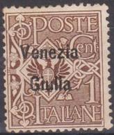 Italia Venezia Giulia 1918 SaN°19 1c. MLH/* Vedere Scansione - 8. WW I Occupation