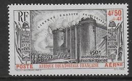 AEF - POSTE AERIENNE - YVERT N° 9 * MLH - COTE =  50 EUR. - REVOLUTION - 1939 150e Anniversaire De La Révolution Française