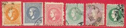 Serbie N°17, 19 à 24 (dentelé Divers) 1869 O - Serbien
