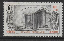 GUYANE - POSTE AERIENNE - YVERT N° 19 * MLH - COTE =  30 EUR. - REVOLUTION - 1939 150e Anniversaire De La Révolution Française