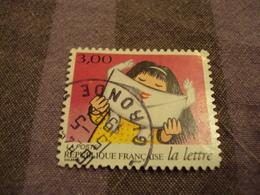 """1990-99  Oblitéré  N° 3064   """" La Lettre,la Réception  """"  Net 0.30-""""  Gironde-photo 1 - Used Stamps"""