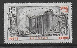 REUNION - POSTE AERIENNE - YVERT N° 6 * MLH - COTE =  30 EUR. - REVOLUTION - 1939 150e Anniversaire De La Révolution Française