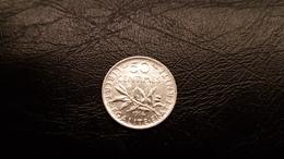 Pièce De 50 Centimes Argent SEMEUSE De 1914 - France