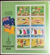 Niue 1980 Olympic Games Minisheet MNH - Niue