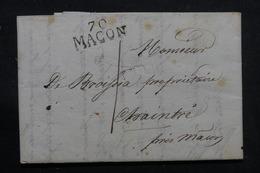 """FRANCE - Marque Postale """" 70 MACON """" Sur Lettre Pour Chaintré En 1816  - L 55863 - 1801-1848: Precursori XIX"""