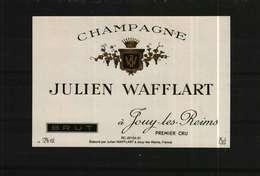 Etiquette De Champagne Brut  JULIEN WAFFLART - Champagne