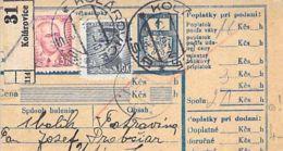 Paketkarte Mit Zfr. Kolarovice 1916 - Ganzsachen