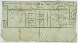 Billet De La Loterie Royale De France . Tirage De Paris Juin 1827 . - Lottery Tickets