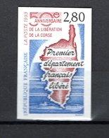 FRANCE  N° 2829a   NON DENTELE  NEUF SANS CHARNIERE  COTE 30.00€   CORSE ILE - France