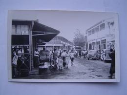 CARTE POSTALE PHOTO  Ancienne : LES HALLES / TAHITI ? / OCEANIE ( FRANCE ) - Tahiti