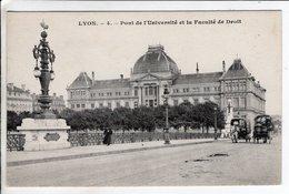Cpa Lyon Pont De L Universite Et La Faculte De Droit - Autres