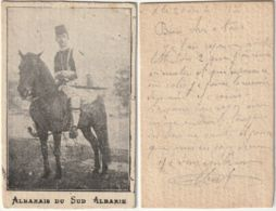 COSTUME ALBANESI - ALBANIA - COLONIALI - ALBANESE DEL SUD ALBANIA - VIAGG. 1917 -45239- - Albanie