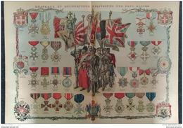 1915 - WW1 - DRAPEAUX ET DECORATIONS MILITAIRES DES PAYS ALLIES - ROI ET LA REINE DE MONTÉNÉGRO  - CYCLISTES MILITAIRES - 1914-18