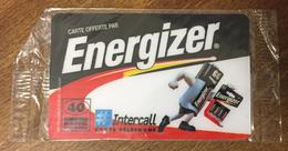 INTERCALL ENERGIZER INTERCALL 40 MN CARTE PRÉPAYÉE À CODE NSB PHONECARD CARD QUE POUR LA COLLECTION - Tarjetas Prepagadas: Otras