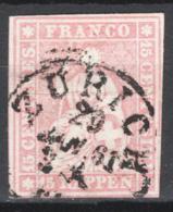 Svizzera 1854 Unif.28 O/Used VF/F - Gebraucht