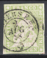 Svizzera 1854 Unif.30 O/Used VF/F - Gebraucht