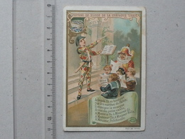 CHROMO LIEBIG: CHANSONS ENFANTINES (S570) 1898 - Monsieur POLICHINELLE - ARLEQUIN - Liebig