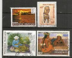 L'art Et Peintres En Polynesie.  4 Timbres Oblitérés, Bonne Qualité - Usati