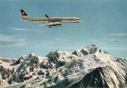 DC 8 SWISSAIR AU DESSUS DU MONT BLANC - (rif. Q21) - 1946-....: Moderne