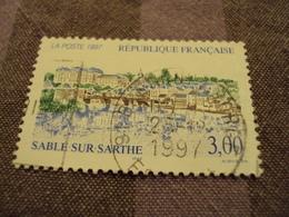 """1990-99  Oblitéré  N° 3107 -    """" Sablé Sur Sarthe""""  Net 0.40 -  """"   Brétigny Sur Orge  91"""" - Frankreich"""