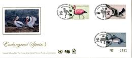 ONU New-York Genève Vienne 2020 -  FDC CITES Soie Silk Seide Espèces En Danger Endangered Species - Emissions Communes New York/Genève/Vienne