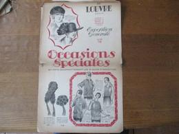 AU LOUVRE PARIS MARS 1923 EXPOSITION GENERALE OCCASIONS SPECIALES - Advertising