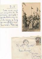 Enveloppe + Lettre + Carte Postale République Du Niger 23 Février 1961 Timbre Tampons Haute Savoie Complet - Niger (1960-...)