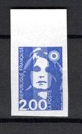 FRANCE  N° 2906a   NON DENTELE  NEUF SANS CHARNIERE  COTE 17.00€    MARIANNE - France
