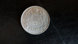 5 FRANCS MONACO LOUIS II 1945 ALU Signé L MAUBERT - Monaco