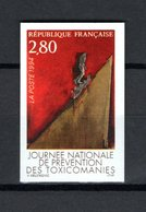 FRANCE  N° 2908a   NON DENTELE  NEUF SANS CHARNIERE  COTE 20.00€   TOXICOMANIE - Imperforates