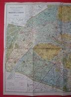 Plan De Paris 1913  Dressé Spécialement Pour Les Grands Magasins Du Louvre - Europe