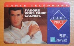 Carte Prépayée NON UTILISEE  Non Grattée - Leader Price- Football - Zinedine Zidane - Prepaid Cards: Other