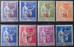 R860/8 - 1940/1941 - TYPE PAIX - N°478 à 485 NEUFS*(6)/(*)1 - Unused Stamps
