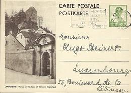 Luxembourg  -  Carte Postale - Postkarte - 1937 - Lsrochette - Ruines Du Château Et Demeure Historique -  2 Scans - Entiers Postaux