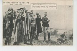 MILITARIA - 1913 - AUX GRANDES MANOEUVRES Les Arbitres Et Les Officiers Munis Des JUMELLES HUET - Carte PUB - Manovre