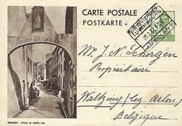 Luxembourg  -  Carte Postale - Postkarte - 1937 - Remich - Porte De La Vieille Rue -  2 Scans - Entiers Postaux