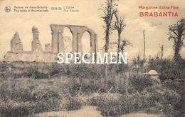 Ruines De Noordschote - L'Eglise 1914-18 - Margarine Extra-Fine Brabantia - Lo-Reninge