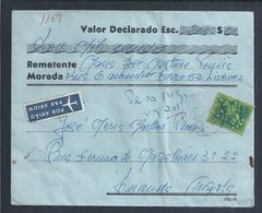 Carta De Valor Declarado VD Circulada Lisboa/Luanda, 1966. Guerra Colonial. Letter With Declared Value Lisbon Luanda - 1910-... République