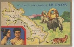 ASIE - COLONIES FRANCAISES - LE LAOS - Edit. Spéciale Des Produits Du LION NOIR - Laos